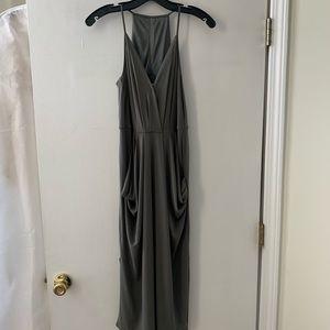 BCBG olive green draped dress size Small